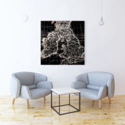 Canvas 36 x 36 - Roman britain maps