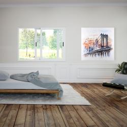 Canvas 36 x 36 - Bridge sketch