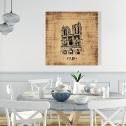 Canvas 36 x 36 - Notre-dame de paris illustration