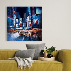 Toile 36 x 36 - Times square abstraite