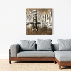 Canvas 36 x 36 - Aged finish golden gate
