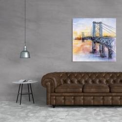 Canvas 36 x 36 - Abstract brooklyn bridge