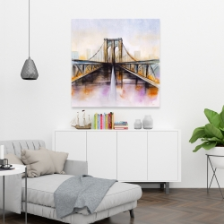 Canvas 36 x 36 - Colorful brooklyn bridge