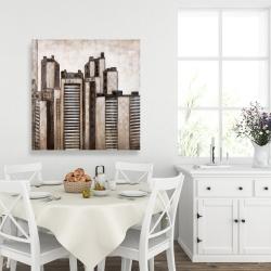 Canvas 36 x 36 - Striped skyscrapers