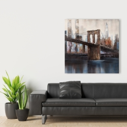 Canvas 36 x 36 - Urban brooklyn bridge