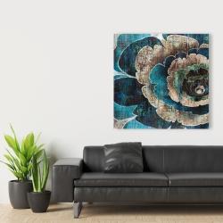 Canvas 36 x 36 - Blue flower montage