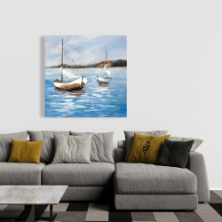 Canvas 36 x 36 - Two boats on the water