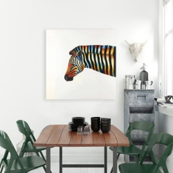 Canvas 36 x 36 - Colorful zebra