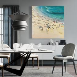 Canvas 36 x 36 - Summer crowd at the beach