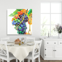 Canvas 36 x 36 - Colorful bunch of grapes