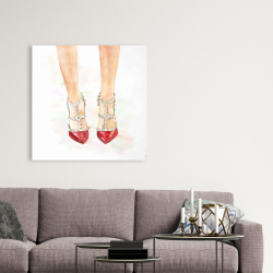 Canvas 36 x 36 - Red studded high heels