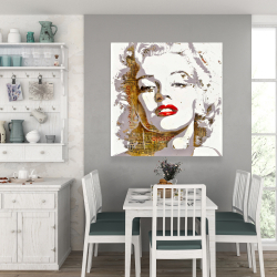 Canvas 36 x 36 - Marilyn monroe with typography