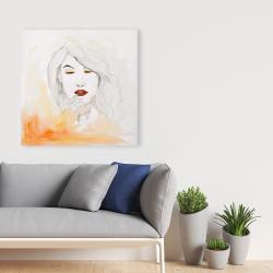 Canvas 36 x 36 - Portrait in watercolor
