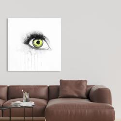 Canvas 36 x 36 - Green eye in watercolor