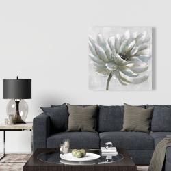 Canvas 36 x 36 - White chrysanthemum