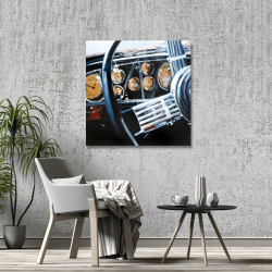 Canvas 36 x 36 - Vintage car interior