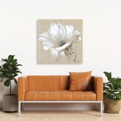 Canvas 36 x 36 - White abstract wild flower