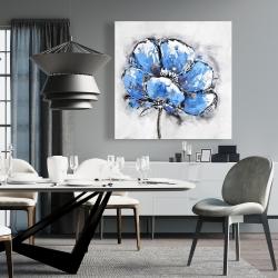 Canvas 36 x 36 - Abstract blue petals