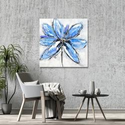 Canvas 36 x 36 - Blue flower