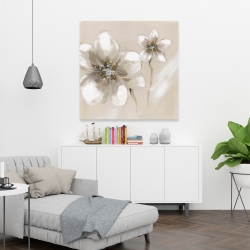 Canvas 36 x 36 - Two cream flowers