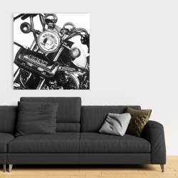 Canvas 36 x 36 - Realistic motorcycle