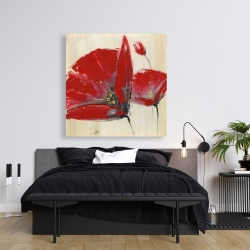 Canvas 36 x 36 - Three red flowers