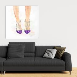Canvas 36 x 36 - Purple studded high heels