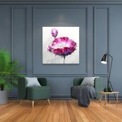 Canvas 36 x 36 - Fuchsia wild flower