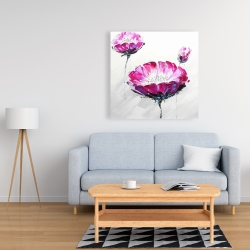 Canvas 36 x 36 - Pink wild flowers