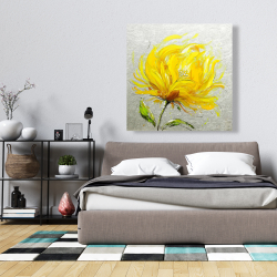 Canvas 36 x 36 - Yellow fluffy flower