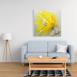 Canvas 36 x 36 - Yellow flower