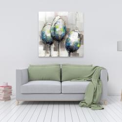 Canvas 36 x 36 - Three abstract tulips