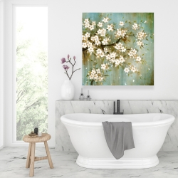 Canvas 36 x 36 - White cherry blossom