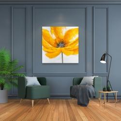 Canvas 36 x 36 - Big yellow flower