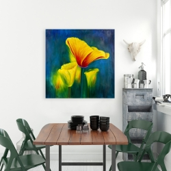 Canvas 36 x 36 - Beautiful colorful flowers