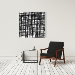 Canvas 36 x 36 - Abstract small stripes