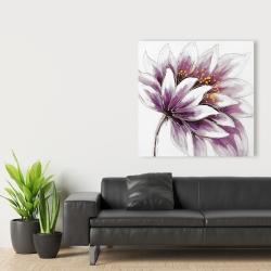 Canvas 36 x 36 - Purple flower