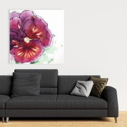 Canvas 36 x 36 - Blossoming orchid with wavy petals