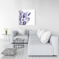 Canvas 36 x 36 - Watercolor lavender flowers with blur effect