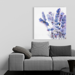 Canvas 36 x 36 - Watercolor lavender flowers