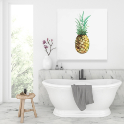 Canvas 36 x 36 - Watercolor pineapple