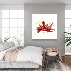 Canvas 36 x 36 - Red hot peppers