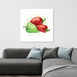 Canvas 36 x 36 - Bell peppers