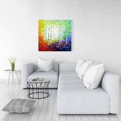 Canvas 36 x 36 - Colorful forest