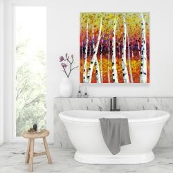 Canvas 36 x 36 - Colored birches