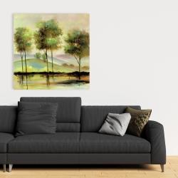 Canvas 36 x 36 - Trees near the lake