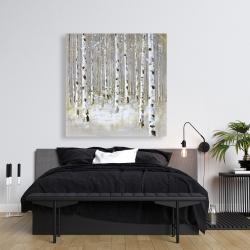 Canvas 36 x 36 - Birch forest by winter