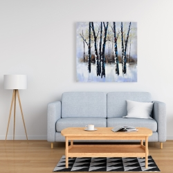 Canvas 36 x 36 - Frosted trees
