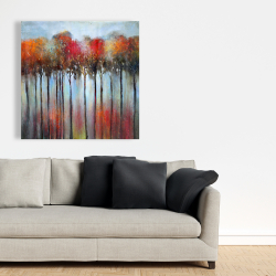 Canvas 36 x 36 - Abstract and colorful forest