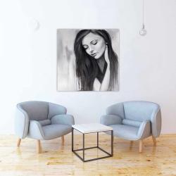 Canvas 36 x 36 - Realistic woman portrait